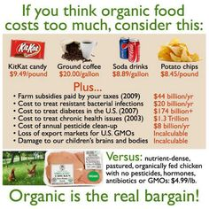 #Organic and #gmofree food is the real bargain--especially if you buy it from greenpolkadotbox.com. :)