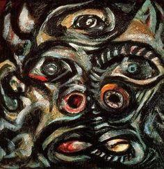 cabeza - (Jackson Pollock)