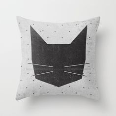 MEOW Throw Pillow by Wesley Bird - $20.00 - society6