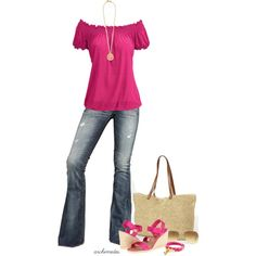 """""""Fuschia for Summer"""" by archimedes16 on Polyvore"""