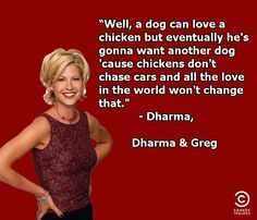Dharma and Greg ~ Quotes ~ A dog can love a chicken..