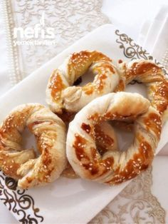 Milföy Simitleri ( Kahvaltıya Beş Çayına )