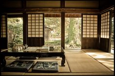 shoji screen. Maybe replacing the closet doors with something styled on a shoji screen could be a future project.