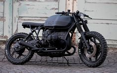 the BMW R80 T63 by angry motors is a total black cafe racer