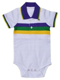 388051633 ... Polo Shirt Dress. Poree's Embroidery · Products · Mardi Gras Infant  Woven Striped Collared Romper