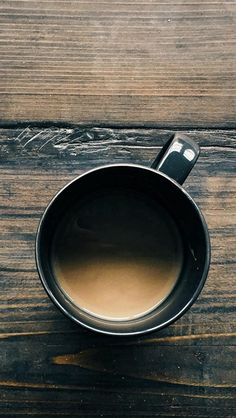 Coffee Cup On Wooden Table #iPhone #5s #wallpaper