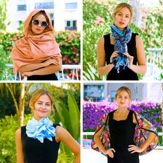 Easy cloths fashion tricks for girls. Ways To Tie Scarves, Ways To Wear A Scarf, How To Wear Scarves, Scarf Knots, Diy Scarf, Diy Fashion, Ideias Fashion, Fashion Outfits, Fashion Tips