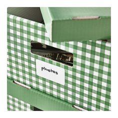 HANKITTU. Pingla kannelliset laatikot - vihreä, 28x37x18 cm - IKEA
