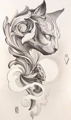 Tattoo sketches 515732594830977036 - large cat head drawing, tattoo designs for women, black and white drawing, white background Source by maxjesus Cat Tattoo Designs, Tattoo Design Drawings, Tattoo Sketches, Tatoo Art, Diy Tattoo, Tattoo Under Chest, Back Tattoo, Tatuagem Diy, Geometric Tatto