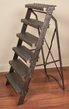 Industrial Iron Ladder | From a unique collection of antique and modern stairs at http://www.1stdibs.com/furniture/building-garden/stairs/