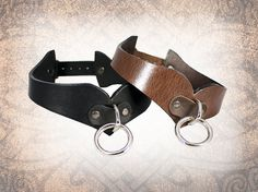 Curvy Leather Collar Leather Bondage Collar by LabyrinthLeather