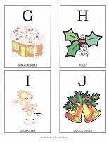 Free printable ABC flashcards with a Christmas theme. Make a Christmas alphabet book!
