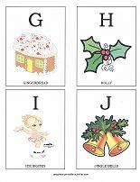 Free printable ABC flashcards with a Christmas theme. Make a Christmas alphabet book!
