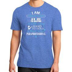 I AM Paraprofessional District T-Shirt (on man)