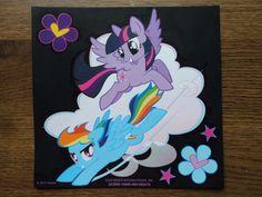 SOLD!!! My Little Pony Scratch Art Picture Rainbow Dash Twilight Sparkle Kids Home Decor #prints #brony