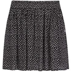 Mango Liberty Print Skirt, Black ($20) ❤ liked on Polyvore featuring skirts, bottoms, faldas, saias, black skirt, floral print skater skirt, flare skirt, pleated skater skirt and pleated circle skirt