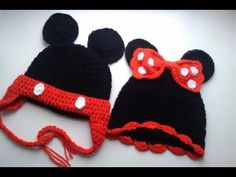28 Ideas crochet hat puff stitch watches for 2019 Baby Hats Knitting, Crochet Baby Hats, Loom Knitting, Crochet For Kids, Minion Crochet, Crochet Cap, Crochet Hooks, Mickey Mouse Hat, Wooly Hats