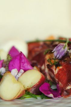 Cider salmon wrapped in cold smoked ham, #salmon, #fish, #salad