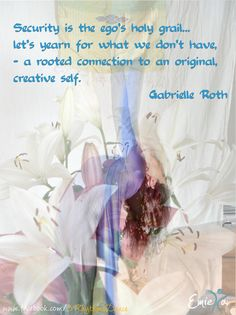 """When we are connected to our center, we are each a dancing temple of infinite possibilities… a time to empty out what is in the way of feeling complete and to begin our next cycle consciously, with a deeper sense of alignment with the movements and changes in our life.""  Gabrielle Roth"