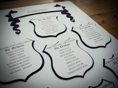 Bespoke castle table plan, fit for any King and Queen! (or your castle wedding!)