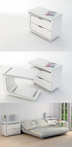 Amazing Modern Futuristic Furniture Design and Concept 70 Smart Furniture, Space Saving Furniture, Barbie Furniture, Furniture Design, Furniture Legs, Garden Furniture, Plywood Furniture, Compact Furniture, Bedroom Furniture