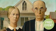 American Gothic by Grant Wood x - Canvas Wrap Print American Gothic Painting, Grant Wood American Gothic, American Art, Image American, American Life, Simple Portrait, Art Institute Of Chicago, Michelangelo, Art History