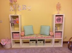 Custom Bench Seat Cushion for Children's Bedroom, Perfect for IKEA Kallax furniture