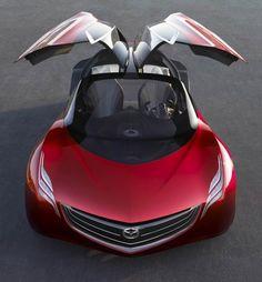 Photographs of the 2007 Mazda Ryuga Concept. An image gallery of the 2007 Mazda Ryuga Concept. Bugatti, Porsche, High End Cars, Retro Futuristic, Futuristic Interior, Classy Cars, Sweet Cars, Cute Photos, Big Trucks
