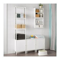 IKEA - DYNAN, Wall shelf, , You can have one shelf by itself – or combine several vertically or horizontally by using the included fixture.Perfect in a small bathroom.