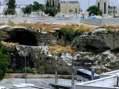 Golgotha, Jerusalem: Located behind a bus station just outside the walls of the Old City, the rocky escarpment pictured above is believed by many Christians to be the Golgotha, or the Calvary, the skull-shaped hill where Jesus was said to have been crucified. The exact location mentioned in the Bible is disputed by religious scholars and archaeologists.