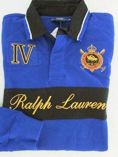 NWT Ralph Lauren Challenge Cup Long Sleeve Rugby Polo Shirt Size L #RalphLauren #PoloShirt