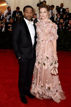 Pin for Later: You Never Forget Your First Time: See All the Met Gala Newbies Chiwetel Ejiofor and Sari Mercer 12 Years a Slave star Chiwetel Ejiofor and his girlfriend Sari Mercer made a picture-perfect couple for their first time on the Met Gala red carpet.