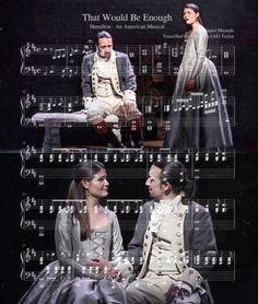 "arminvincible: "" ☆ Hamilton + Music Scores ☆ """