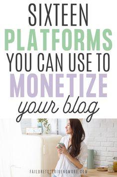 Make money with your blog | Side hustles | How to monetize your blog | Influencer #sidehustles #sidehustleideas #mompreneur #wahm #workathome #workathomejobs #blogging #bloggingtips