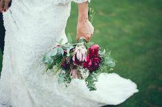 Romántico vestido de novia en encaje
