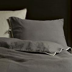 Linen Cotton Duvet Cover + Shams - Slate - West Elm :: $135