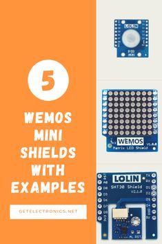 5 Wemos Mini shields with examples - Get electronics Esp8266 Projects, Arduino, Periodic Table, Abs, Electronics, Mini, Periotic Table, Periodic Table Chart, Abdominal Muscles