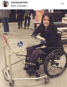 Cart That Attaches To Wheelchair! Where Are These? We Need Them Everywhere!