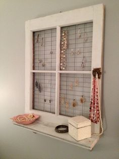 Vintage Window Frame and Shelf Wall Decor by AsIsRepurposedItems, $75.00