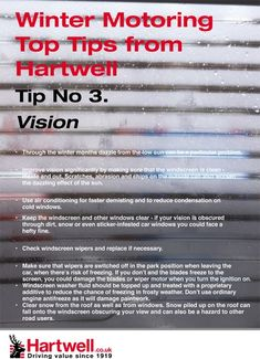Top tips from Hartwell Plc #winter #hartwell #motoring #tips #cars #vision