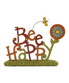 Another great find on #zulily! 'Bee Happy' Sign #zulilyfinds