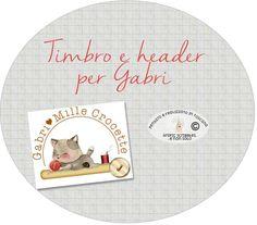 TIMBRO E NUOVA INTESTAZIONE PER GABRI 1000 CROCETTE http://graficscribbles.blogspot.it/2016/07/header-timbro-stamp-diy-crafty.html #bloggers #blog #blogspot #grapfic
