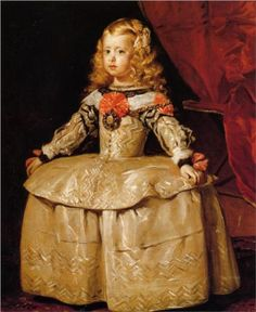 Portrait of the Infanta Margarita Aged Five , Diego Velazquez. My kids love looking at these royal portraits of kids. Especially since the new Prince George has arrived!