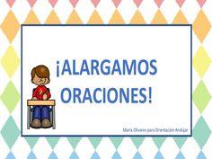 #dislexia conciencia morfosintáctica y semántica alargamos oraciones -Orientacion Andujar Ludo, Dora, Spanish Class, Speech Therapy, Third Grade, Language, 1, Teaching, Math