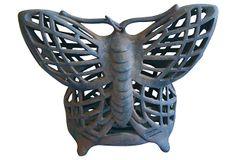1950s Cast Iron Butterfly Lantern on OneKingsLane.com