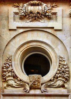 ⌖ Architectural Adornments ⌖  ornate building details - Oeil de boeuf (rue Cambacérès, à Paris)