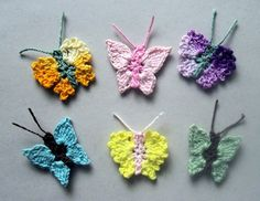 Cute Little Butterflies 1 and 2 for applique crafts by PetalsnMore