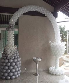 Decoration for anniversary - Balloon Decorations 🎈 Ballon Decorations, Birthday Decorations, Wedding Decorations, Balloon Columns, Balloon Arch, Balloon Ideas, Ballon Arrangement, Deco Ballon, Balloons Galore
