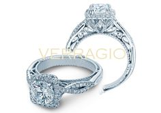 VENETIAN-5062CU engagement ring from The Venetian Collection of diamond engagement rings by Verragio
