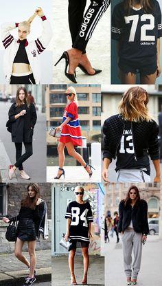 Street Style Photography featuring Athleisure fashion Caroline Blomst Alexandra Spencer Christine Centenera. #Adidas
